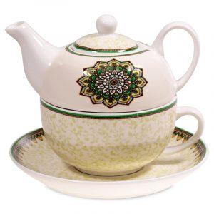 Tea for One Mandala grün