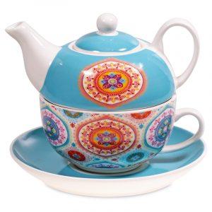 Tea for one Mandala Blau