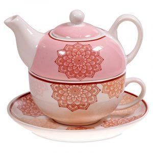 Tea for One Mandala rosa