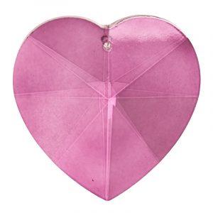 Regenbogenkristall herzförmig rosa