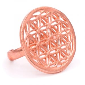 Ring Blume des Lebens Kupferfarben