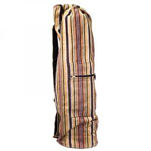 Yogamatten Tasche mit Kordelzug Braun gestreift