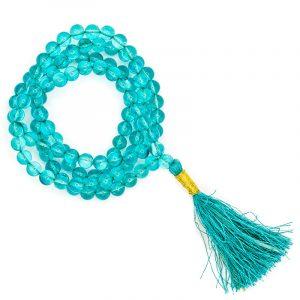 Mala Aqua Aura AA-Qualität 108 Perlen + Täschchen