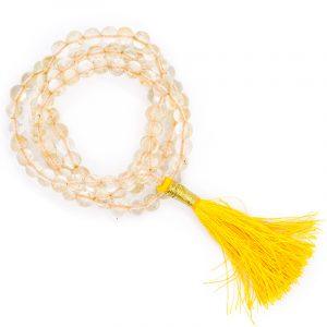 Mala Citrin AA-Qualität 108 Perlen + Täschchen (6 mm)