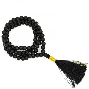 Mala Schungit AA-Qualität 108 Perlen + Täschchen