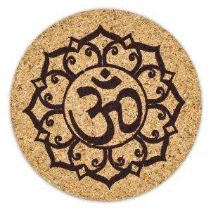 Ohm Lotus Untersetzer Kork Set von 6 Stück
