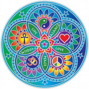 Fensterbild Mandala Lebende Energie