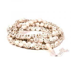 Mala Knochen 108 schädelförmige Perlen & Guru Perle