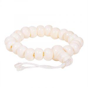 Mala Armband Knochen Natur 21 Perlen (verstellbar)