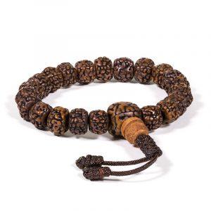 Mala Armband poliert Rudraksha 21 Perlen