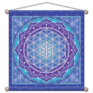 Wandschmuck für Meditation Blume des Lebens (37,5 x 37,5 cm)