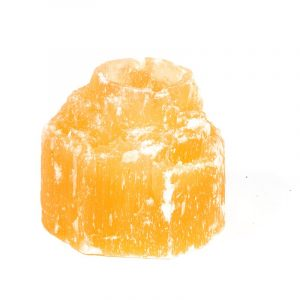 Stimmungsvolles Licht Selenit orange