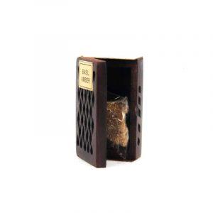 Harzmischung Basilikum/Amber in Holz Dose