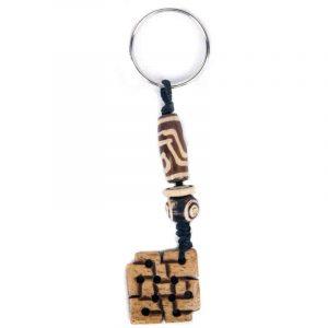 Schlüsselanhänger Endloser Knoten braun