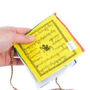 5 Tibetische Gebetsfahnen mit Schnur XS