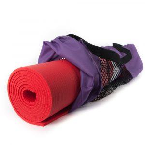 Tasche für Yogamatte (lila, wasserfest)