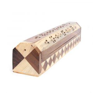 Räuchergefäß und Aufbewahrungsbox Zweifarbiges Holz