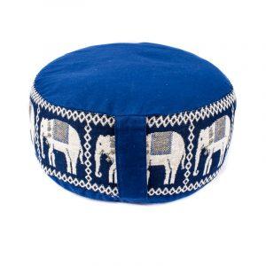 Meditationskissen Elefanten blau