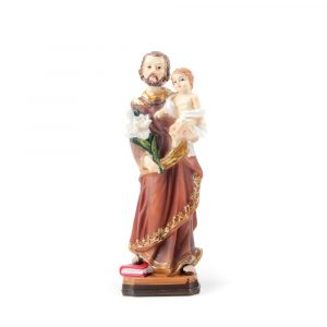 Statue Josefs mit Kind Jesus 13 cm