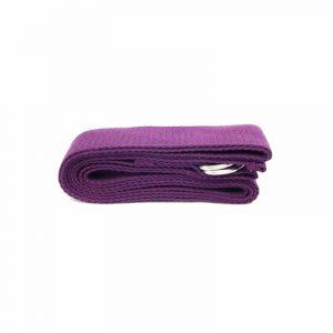 Yogagurt D-Ring Schnalle violett Baumwolle (183 x 4 cm)