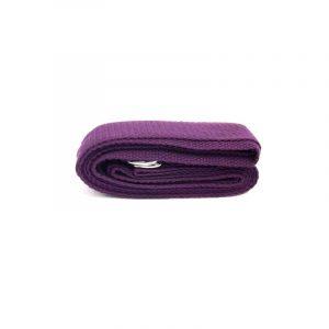 Yogagurt D-Ring Schnalle violett Baumwolle (250 x 3 cm)