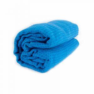 Yoga Handtuch rutschfest blau Silikon
