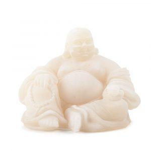 Schnee-Quarz Statue Buddha sitzend (9 cm)