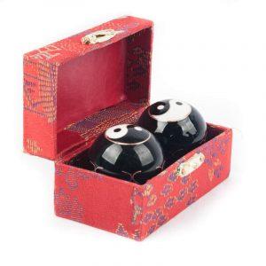 Qigongkugeln - Yin Yang (schwarz) - 3,5 cm