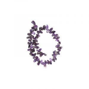 Edelstein Perlen-Strang Amethyst Tropfenform