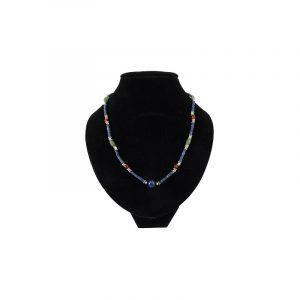 Böhmische Halskette Lapis Lazuli mit Kugeln