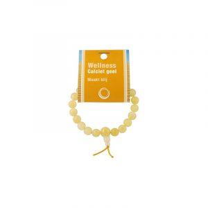Powerbead Armband Calcit Gelb (mit Kärtchen)