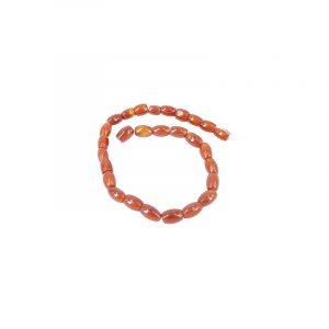 Edelstein Perlen-Strang Karneol Oval dunkel (11 mm)