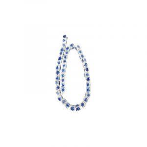 Perlenschnur blau rund (10 mm) Strang