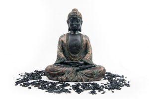 Meditationsbuddha Antikes Finish Japan - 24 cm