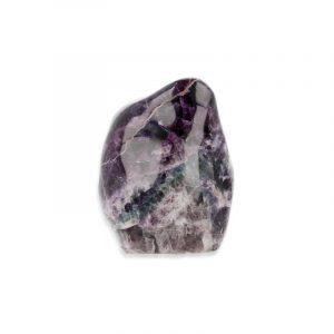 Edelstein Fluorit Regenbogen halb-geschliffen (Modell 3)