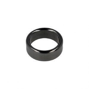 Hämatit Edelstein Ringplatte 8 mm (Größe 17)