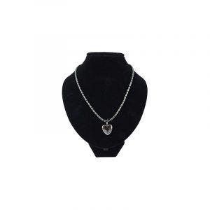 Edelstein Halskette Hämatit mit Herz-Anhänger