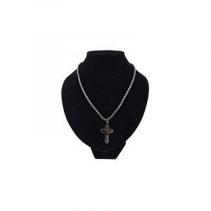 Edelstein Halskette Hämatit mit Kreuz-Anhänger