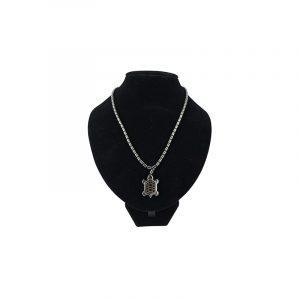 Edelstein Halskette Hämatit mit Schildkröten-Anhänger
