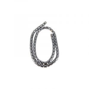 Edelstein Perlen-Strang Hämatit Wannenform (4 mm)