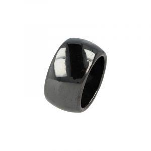 Edelstein Ring Hämatit Magnet (Größe 22)