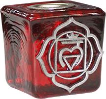 Kerzenhalter Rot 1e Chakra