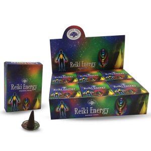Green Tree Räucherkegel Reiki Energie (12er Pack)