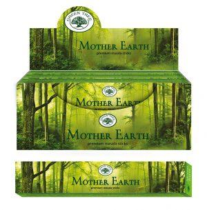 Green Tree Räucherstäbchen Mother Earth (12 Packungen à 15 Gramm)