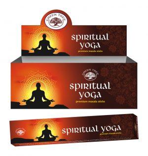 Green Tree Räucherstäbchen Spiritual Yoga (12 Packungen à 15 Gramm)