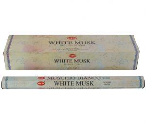 HEM Räucherstäbchen White Musk (Extra Lang - 6 Packungen mit 10 Stäbchen)