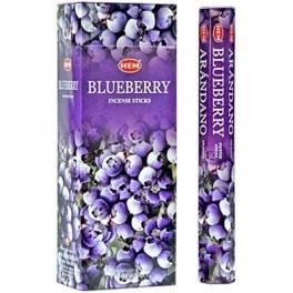 HEM Räucherstäbchen Blaubeeren - Blueberry (6 Packungen mit 20 Stäbchen)