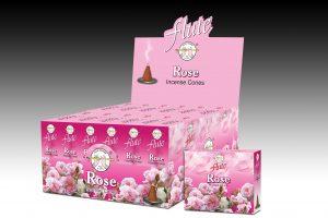 Flute Raucherkegel Rose (12 Packungen mit 10 Kegel)
