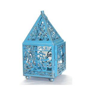 Laterne ohne Glas - Ganesha Blau