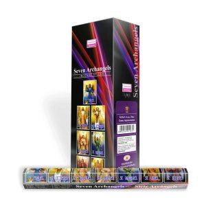 Darshan Raucherstäbchen Sieben Erzengel (6 Packungen mit 20 Stäbchen)